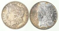 LOT 2 1883-O & 1904-O MORGAN SILVER DOLLARS - TONED 3672