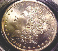 1904-O MORGAN SILVER DOLLAR  PCGS MINT STATE 65   STILL IN OLD RATTLER 1ST HOLDER