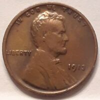 1913 1C LINCOLN WHEAT CENT EXTRA FINE