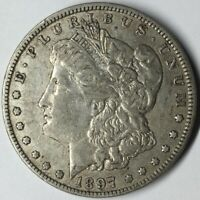 1897-O $1 MORGAN SILVER DOLLAR VAM 6R EXTRA FINE  UNCERTIFIED