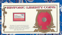 PCS HISTORIC LIBERTY COIN AND STAMP SET 1891-P SEATED LIBERTY DIME