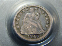 1846 10C SEATED DIME VF-20 PCGS OGH,  BETTER DATE
