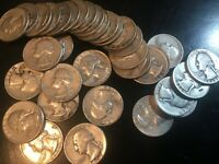 SILVER WASHINGTON QUARTERS ROLL OF 35  ALL FULL DATES FACE V