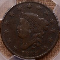 1823/2 N.1 BETTER DATE LARGE CENT PCGS F12 CAC SWEET      DA