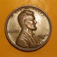 1937 D COPPER PENNY--PRIZED