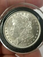 1884-O VAM 38 FAR/DOUBLED  DATE POSSIBLE 8 IN DENTICLE MORGAN SILVER DOLLAR COIN