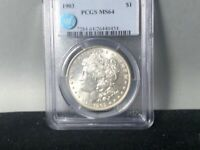1903-P PCGS MINT STATE 64 MORGAN SILVER DOLLAR SIGHT WHITE CERTIFIED GREAT LUSTER