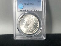 1884-P PCGS MINT STATE 64 MORGAN SILVER DOLLAR SIGHT WHITE CERTIFIED GREAT LUSTER