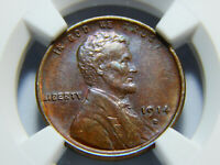 1914-D 1C LINCOLN WHEAT CENT MINT STATE 62BN NGC,  COIN FRESH BACK FROM GRADING