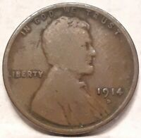 1914-D 1C LINCOLN WHEAT CENT G