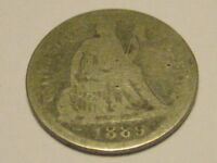 1889-P SEATED LIBERTY DIME AG