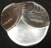 INDIA RS.2/  STEEL COIN OFF CENTRE & DOUBLE STRIKE ERROR