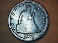 1875 S 20 CENT SILVER COIN