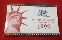 1999 S UNITED STATES SILVER PROOF SET 9  PIECE SET NIB WITH