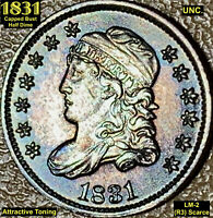 1831 CAPPED BUST HALF DIME LM-2 UNCIRCULATED R3