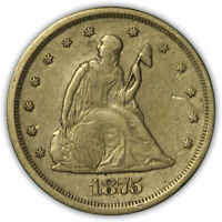 1875 S SEATED LIBERTY 20 CENT PIECE.