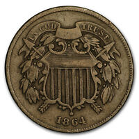 1864 TWO CENT PIECE LARGE MOTTO FINE - SKU6267