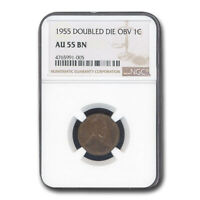 1955 LINCOLN CENT DOUBLED DIE AU-55 NGC - SKU50410