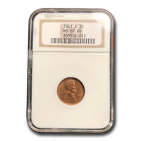 1941-S LINCOLN CENT MINT STATE 67 NGC RED - SKU197495