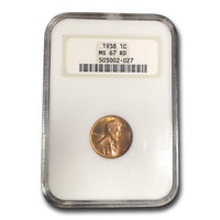 1938 LINCOLN CENT MINT STATE 67 NGC RED - SKU197494