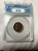 1909-S VDB LINCOLN CENT AU58 ANACS CERTIFIED