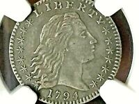 1794 H10C NGC AU50 - ONLY ONE ON EBAY THIS  IN YEARS 9 KNOWN