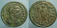 HIGH GRADE AND  CONSTANTINE I AS CAESAR PRINCIPI IVVENTVTIS FOLLIS   TRIER