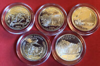 2002 S SILVER PROOF DEEP CAMEO STATE QUARTERS FIVE COIN SET IN PREMIUM CAPSULES