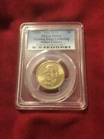 2010 MILLARD FILLMORE PCGS MINT STATE 64 MISSING EDGE LETTERS ERROR COIN