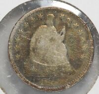 1859-O SEATED LIBERTY HALF DIME SILVER US COIN NEW ORLEAN MINT LF407