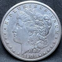1901 S MORGAN SILVER DOLLAR EXTRA FINE /AU DETAILS BETTER DATE COIN