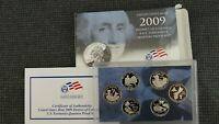 2009 US QUARTERS PROOF SET   DISTRICT OF COLUMBIA AND US TER