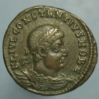 WONDERFUL COLOR AND DETAILS   CONSTANTIUS II GLORIA EXERCTIVS AE 4 FROM ANTIOCH