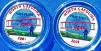 SET OF P AND D COLORIZED STATE QUARTERS NORTH CAROLINA 2001