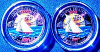 SET OF P AND D COLORIZED STATE QUARTERS RHODE ISLAND 2001