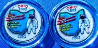 SET OF P AND D COLORIZED STATE QUARTERS OHIO 2002