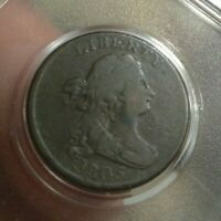 1805 HALF CENT AMERICAN COLONIAL STEMS