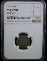 1829 10C NGC VF DETAILS 1829 CAPPED BUST DIME SILVER 10C