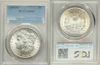RANDOM SELECTION, 1902-O, MORGAN SILVER DOLLAR, PCGS MINT STATE 65, WHITE OR LIGHT TONING