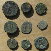 NICE EAGLE REVERSE PROVINCIAL IN LOT OF NINE LOWER GRADE ANCIENT BRONZES