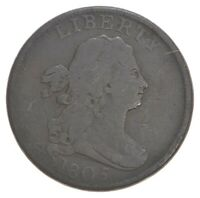 1805 DRAPED BUST HALF CENT   DAVIS COIN COLLECTION  238