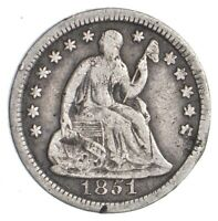 1851 SEATED LIBERTY HALF DIME   DIRK COIN COLLECTION  404