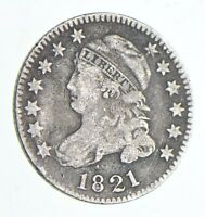 1821 CAPPED BUST DIME   CHARLES COIN COLLECTION  061