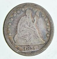 1877 SEATED LIBERTY QUARTER DOLLAR   CHARLES COIN COLLECTION