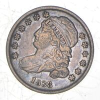 1833 CAPPED BUST DIME   DAVIS COIN COLLECTION  952