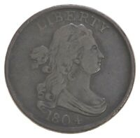 1804 DRAPED BUST HALF CENT   DAVIS COIN COLLECTION  228