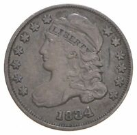 1834 CAPPED BUST DIME   DAVIS COIN COLLECTION  252
