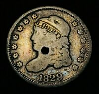 1829 CAPPED BUST SILVER HALF DIME 5C SHARP US COLLECTIBLE SILVER COIN CCC269
