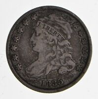 1835 CAPPED BUST DIME - CIRCULATED 1837