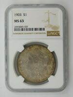1903 MORGAN SILVER DOLLAR NGC GRADED MINT STATE 63 557